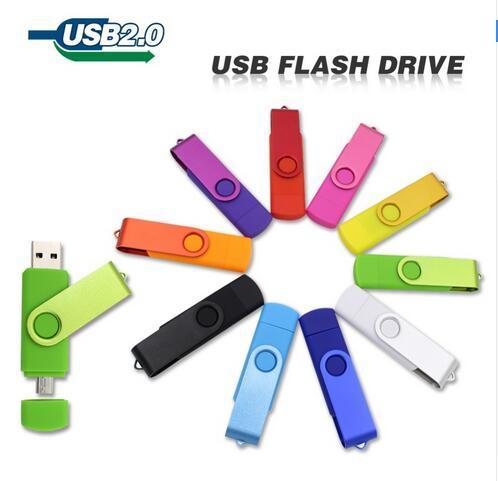 Unidade Flash USB pen drive 16 GB 32 GB 64 GB 128 GB pendrive OTG armazenamento externo micro usb memory stick para samsung para o telefone inteligente