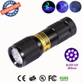 SUPERIA 9LED 365nm UV Light LED uv Flashlight /Ultraviolet light for uv leak detector (365nm Best world ultraviolet lamp)