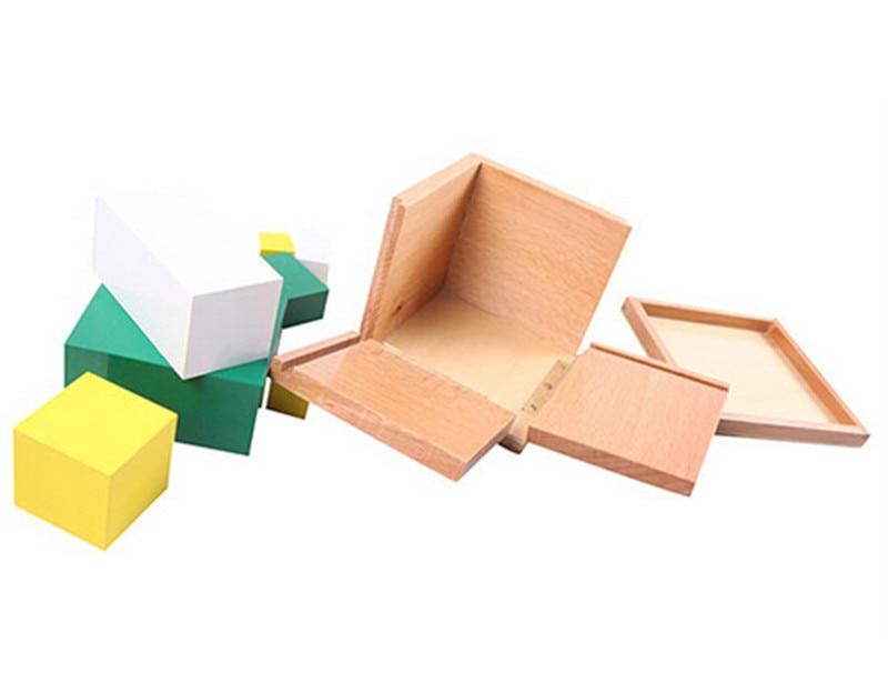 Juguete de madera para bebé Juguete Montessori Power of 2 Cube Math - Educación y entrenamiento - foto 3