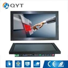 15,6 дюймовый монолитный ПК/J1900 2,0 ГГц/128 Гб SSD 4 Гб ОЗУ, резистивный сенсорный экран 1366x768, промышленный компьютер, встроенный СВЕТОДИОДНЫЙ ПК