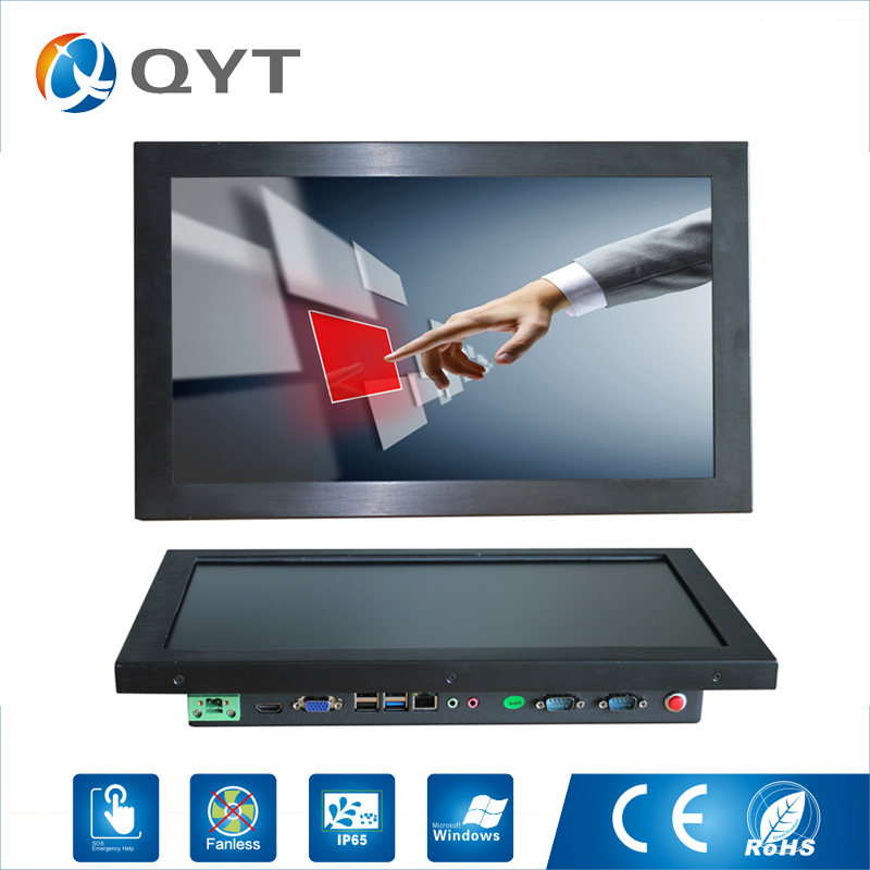 15.6 inch all in one pc / J1900 2.0GHz/128G SSD 4GB RAM Resistive Touch Screen 1366x768 Industrial Computer Embedded Led PC all in one pc with 10 1 inch industrial 4 wire resistive screen 4g ram 128g ssd support calls boot wake on lan