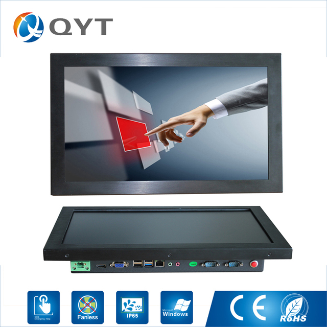 15.6 inch all in one pc / J1900 2.0GHz/128G SSD 4GB RAM Resistive Touch Screen 1366x768 Industrial Computer Embedded Led PC
