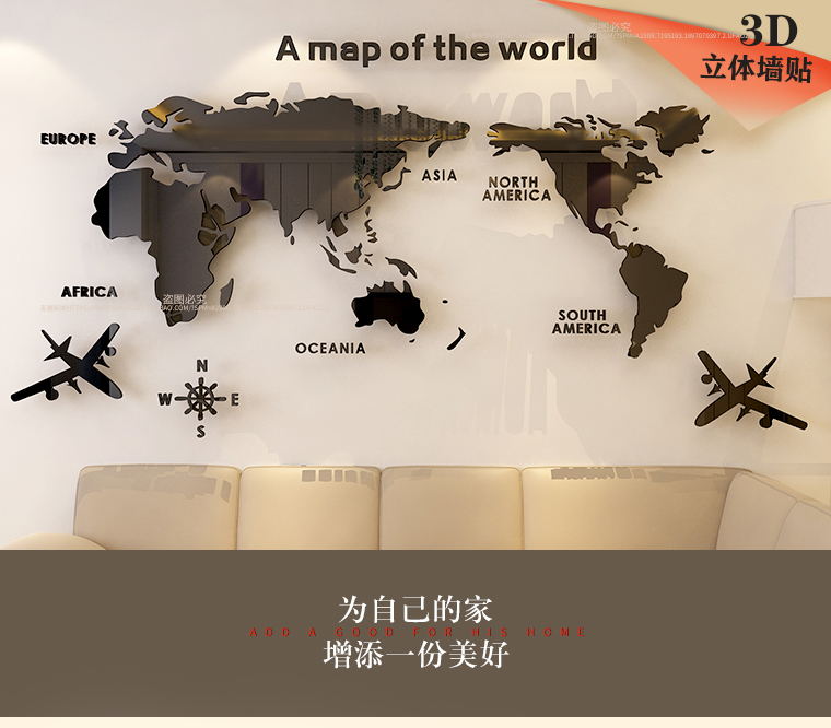 HTB1apHSXtfvK1RjSspoq6zfNpXaG - World map Acrylic 3D solid crystal bedroom wall with living room