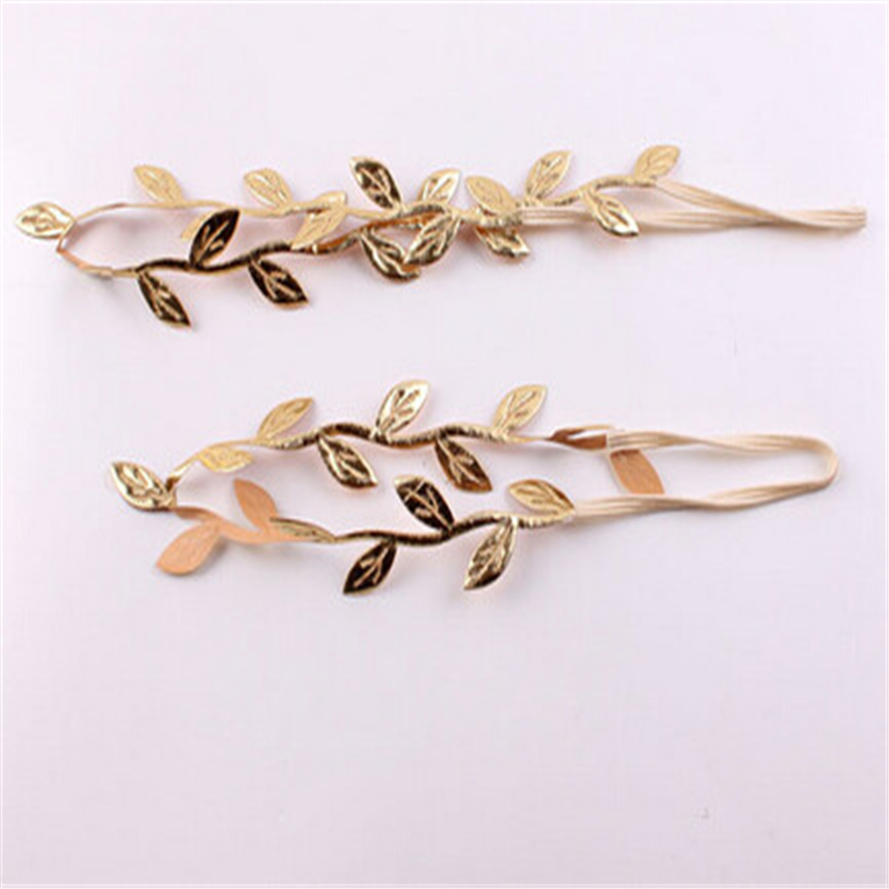 Children's Golden Leaf Hairband Baby Sweet Handmade Hair Accessories European And American Style Headwear Parent-child Photo