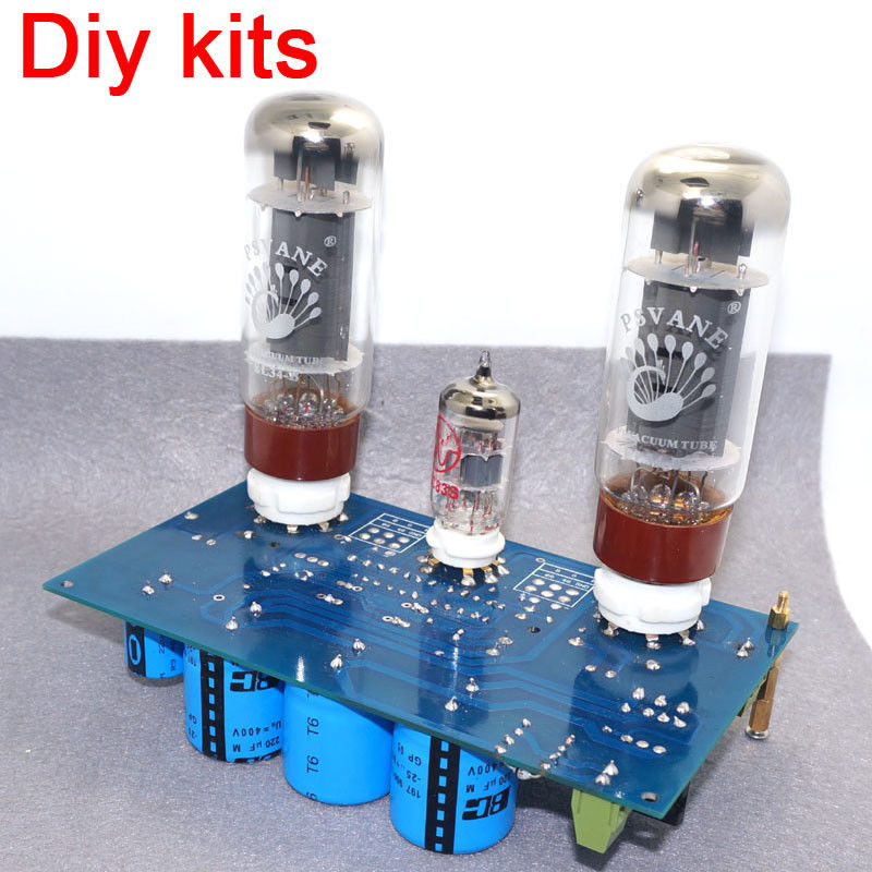 ECC83+ KT88/ EL34 Single-ended Class A Stereo <font><b>Tube</b></font> <font><b>Amplifier</b></font> Board DIY Kit <font><b>10W</b></font>+<font><b>10W</b></font> for Preamp Pre-amp image