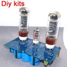 ECC83 + KT88/ EL34 Đơn Kết Thúc Lớp Một Stereo Ống Bảng Mạch Khuếch Đại DIY Bộ 10W * 2 cho Preamp
