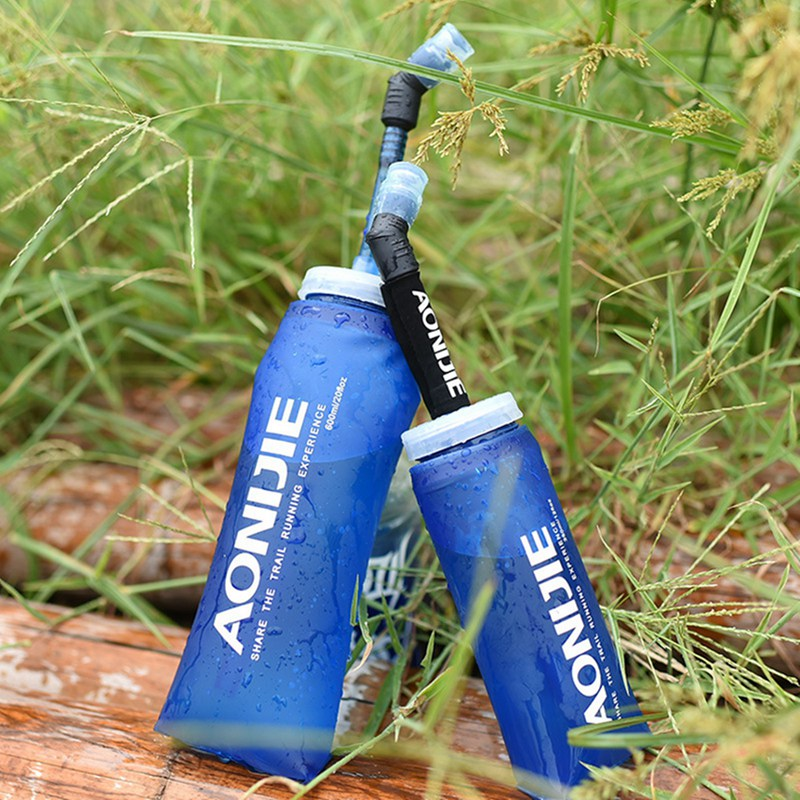Frasco plegable Suave TPU Deportes Al Aire Libre Correr Plegable Botella de Agua