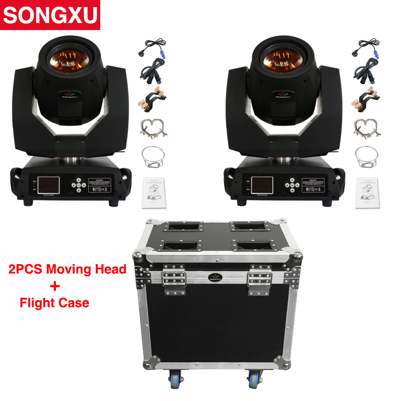 Flight Case 2pcs Sharpy Beam Lyre 230 Beam 7R Moving Head Light with Flight Case 2in1