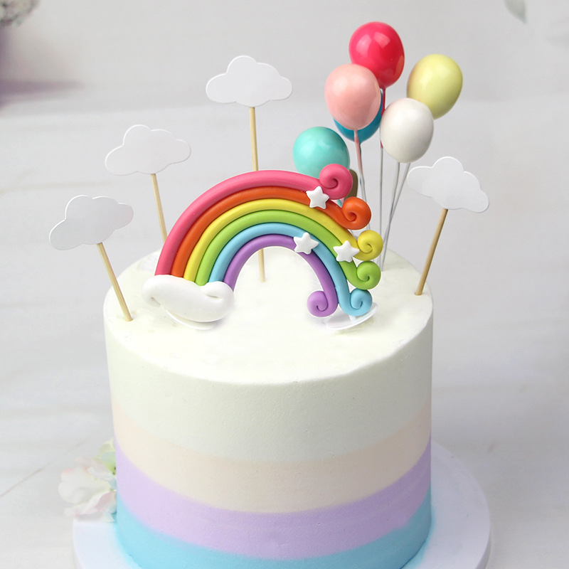 Prime Rainbow Cake Decorating Star Cloud Mini Colorful Fairy Garden Funny Birthday Cards Online Elaedamsfinfo