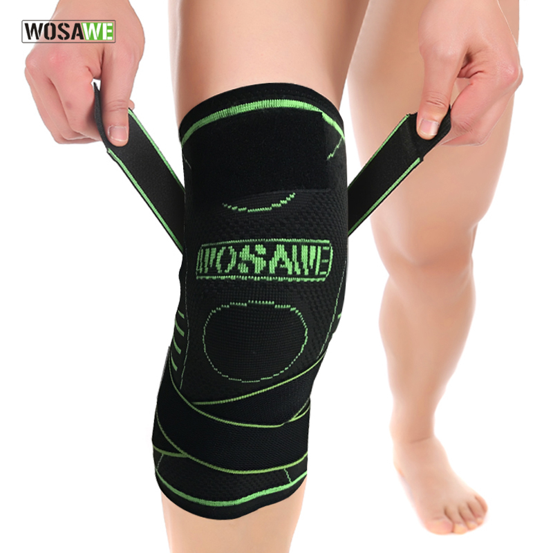 WOSAWE Kneepads Men Women Knee Pads Compression Knee Protector Ball Knee Safety Running Cycling Fitness MTB Knee Brace Support