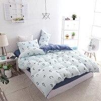 Simplicity Ins New Character Print Bedding Set 3/4pcs Include Duvet Cover Flat Sheet Pillowcase 1.2m/1.35m/1.8m/2m Home Textile