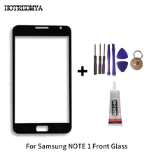 цена на Front Glass Touch Panel For Samsung Galaxy Note 1 N7000 i9220 Touch Screen Outer Glass Panel Lens Replacement Parts+tools