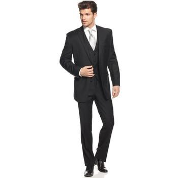 Custom new groom black men's wedding groom dress formal suit wedding  ball men's suits (jacket + vest + pants) custom made