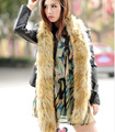 Autumn and winter women's Ultra large ultra long fox raccoon faux fur luxury thermal fur scarf muffler scarf 185cm