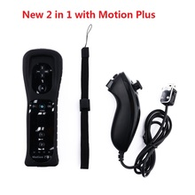 New 2 in 1 Wireless Remote Gamepad Controller for Wii and Wii U Built-in Motion Plus Nintend Nunchuck Controle Joystick Joypad ultimate band wii