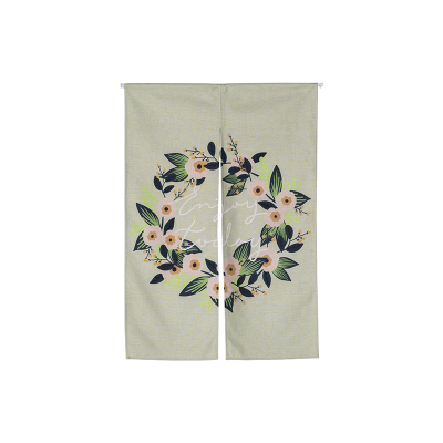 Pastoral flower cloth shade hanging door window curtain Japanese home decoration bedroom living study room kitchen cafePastoral flower cloth shade hanging door window curtain Japanese home decoration bedroom living study room kitchen cafe