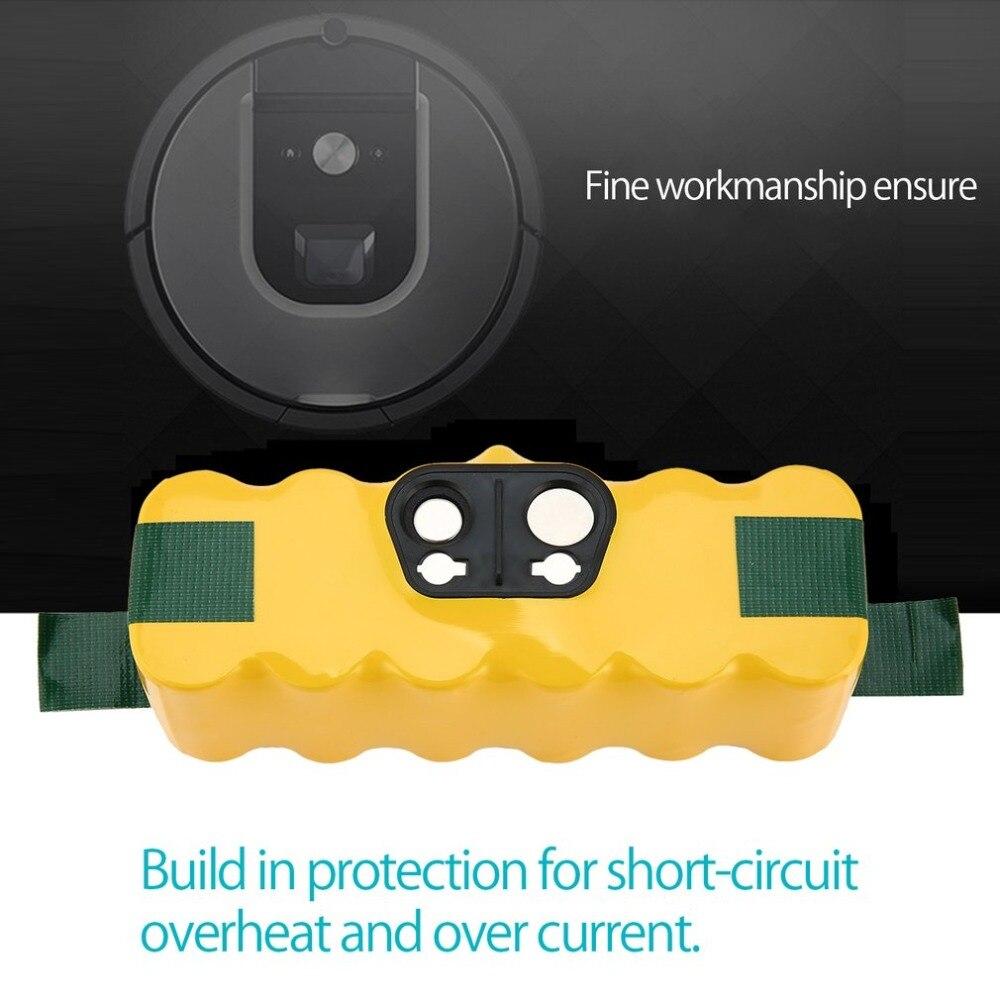 14,4 V ni-mh 6000mAh аккумуляторная батарея для iRobot Roomba 500 600 700 800 900 серии пылесос желтый