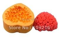卸売!! 1ピースブーケのバラでハート形(r0461)シリコーン手作りソープモールドクラフトdiy金型