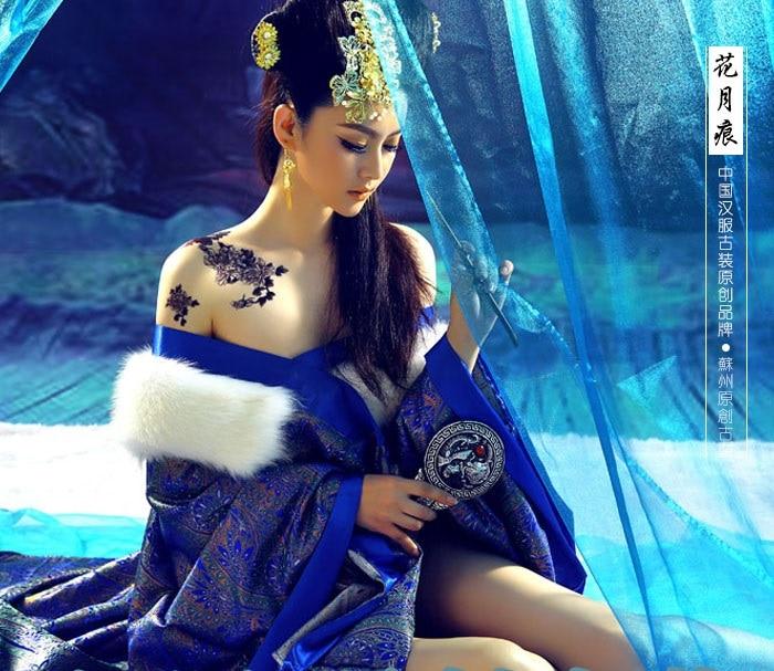 Huayuehen 2014 Winter Hanfu Costume Tang Princess Empress
