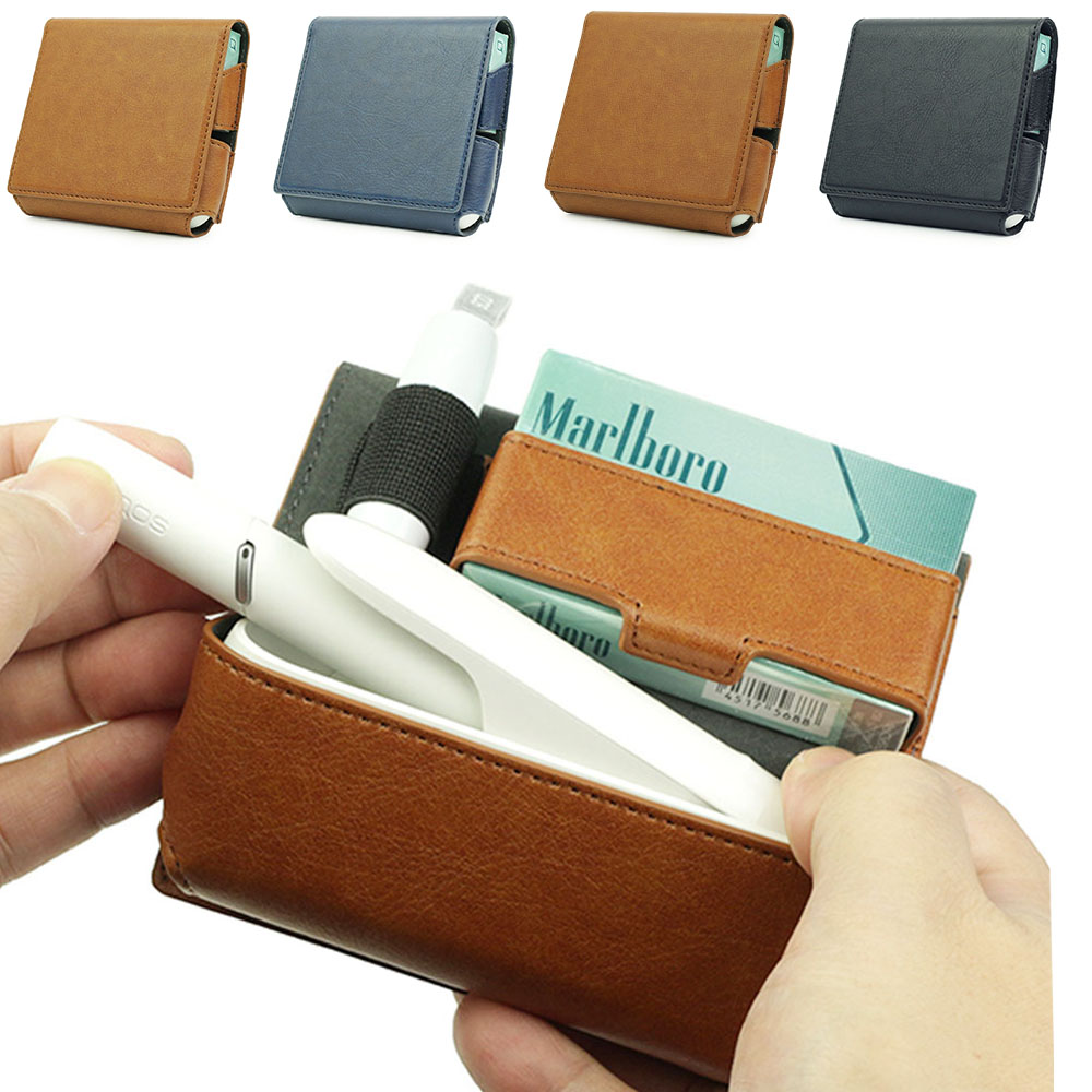 JINXINCHENG Fashion Flip Wallet Leather Case for IQOS 3.0 Pouch Bag Holder Box Case  for Iqos 3 Holder Case wallet