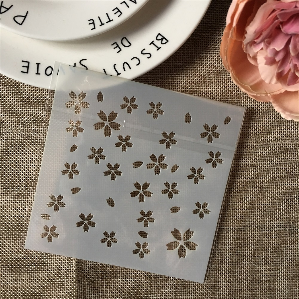 Hot 13cm Plum Flower Texture DIY Layering Stencils Wall Painting Scrapbook Coloring Embossing Album Decorative Template