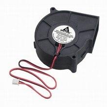 Gdstime 1 шт. 12 в 75x30 мм Бесщеточный вентилятор охлаждения 75 мм Двигатель вентилятор 12 вольт 2 провода 2 Pin 7530