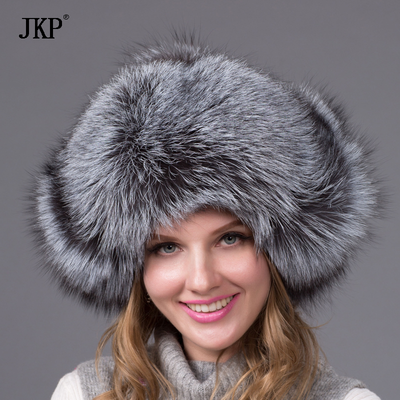 Bomber real fur hat for women winter fox raccoon fur hat waterproof cloth fashion leather hat female ear protector cap HJL 05