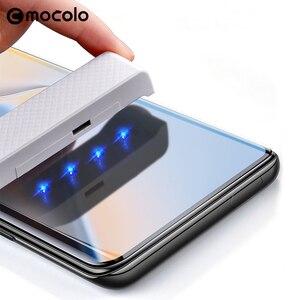 Image 1 - Für Oneplus 7 Pro Screen Protector Mocolo 7T Pro Volle Flüssigkeit Geklebt Gebogene UV Gehärtetem Glas für OnePlus 8 pro Screen Protector