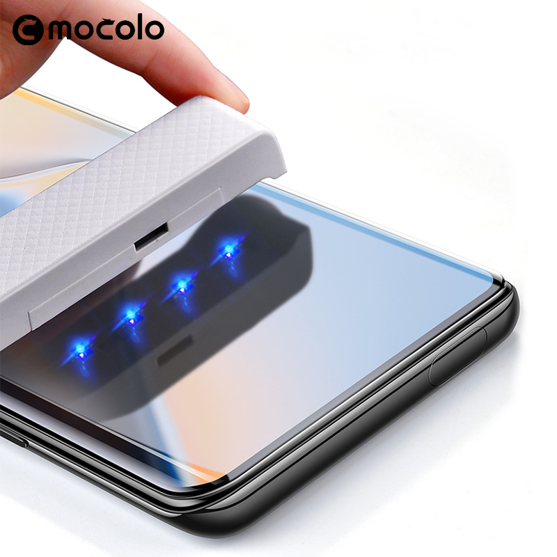 For Oneplus 7 Pro Screen Protector Mocolo Full Liquid Glued 5D Curved UV Tempered Glass For OnePlus 7 Pro Screen Protector