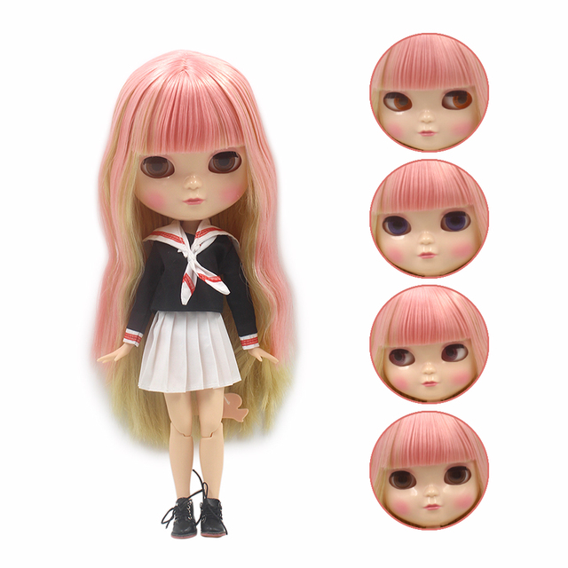 ICY Neo Blythe Doll Full Combo Box Pink Hair Azone Body