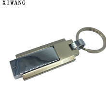 usb flash drive memory usb 2.0 silver 16gb 4GB 8GB 16GB 32GB 64GB Metal rotation pendrive 128gb pen drive gift free custom logo цена и фото