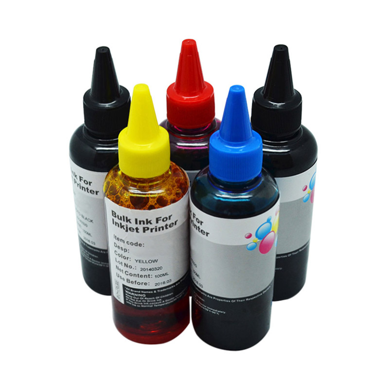 5x100ml For CANON Refillable Ink Cartridges PGI150 250 450 550 750 850 Dye Refill Ink Kits Bulk CISS Ink For Canon All Printers5x100ml For CANON Refillable Ink Cartridges PGI150 250 450 550 750 850 Dye Refill Ink Kits Bulk CISS Ink For Canon All Printers