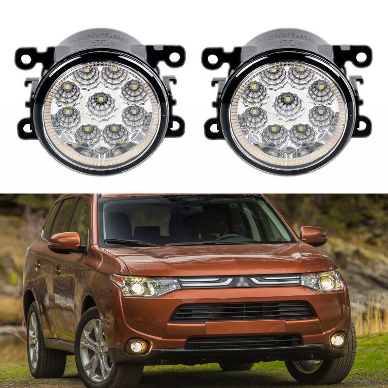 Car Styling For Mitsubishi Outlander 2012 2017 9 Pieces Leds Chips LED Fog Light Lamp H11