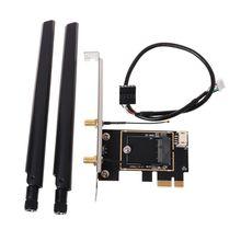 1 комплект M.2 NGFF на конвертер PCI-E настольной Беспроводной Wi-Fi и bluetooth-адаптер сетевая карта плата адаптера конвертер Новый