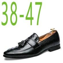 9f3cf8271b Zapatos de borla para hombre, zapatos de cuero italianos formales, piel de  serpiente,
