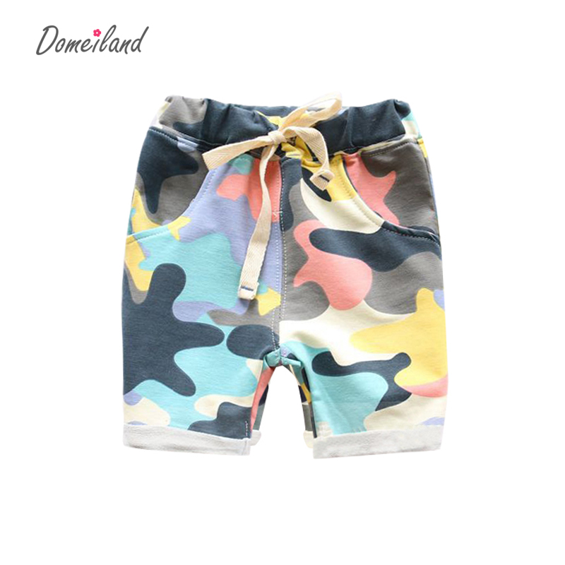 2016 summer Fashion Children's Clothing Kids Boy Camouflage Army Harem Shorts Pants Sport Camo Cargo Cross Trousers