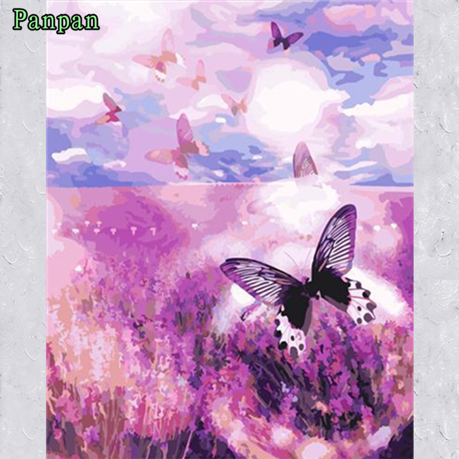 Lavender flowers Unframed picture on wall Hand painted canvas painting Diy Digital Oil painting by numbers Christmas Decor Gift