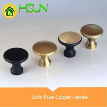 Pure Copper Furniture Handle Black Continuous System  Drawer Cupboard Doorknob Countryside Code Modern Concise Door Pull