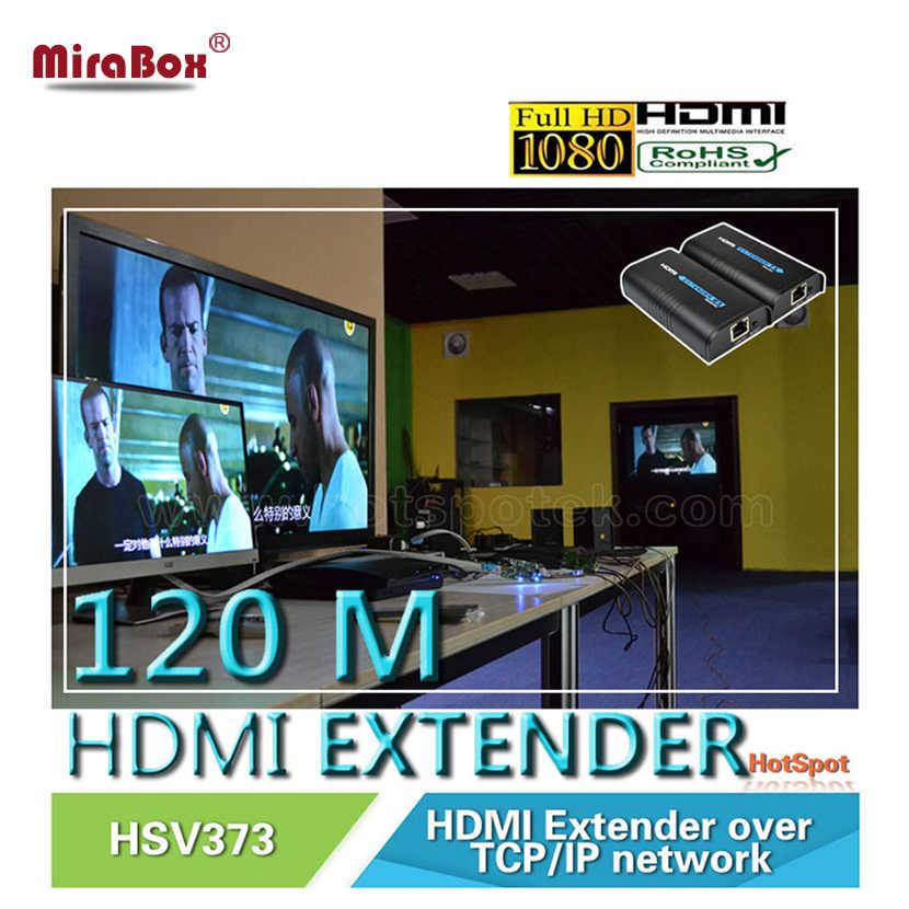 Extensor de hdmi sobre ip/tcp utp/stp, cat5e/6 rj45 lan, suporte de rede 1080p 120m extensão como receptor transmissor divisor hdmi