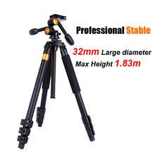 QZSD Q620 Professional DSLR Video Camera Tripod + Panoramic Head Stable Heavy Camera Stand for Telephoto Lens Recorder Camcorder