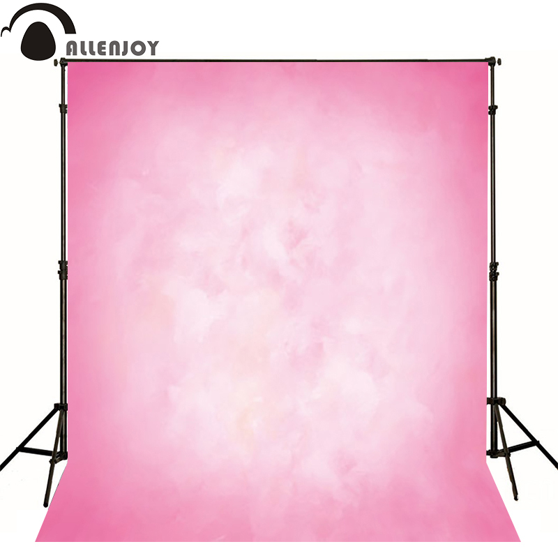 Allenjoy Thin Vinyl cloth photography Backdrop Pink Computer Printing Background for Wedding Photo Studio Pure Color MH-027 150x90cm pink valentine s day vinyl studio backdrop love theme photography background cloth photo props wedding party favor