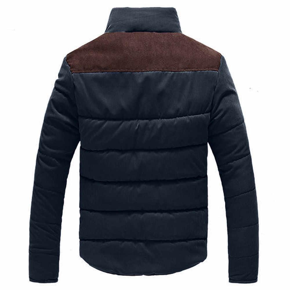 JAYCOSIN 男性ジャケット 2019 冬レジャージッパースタンド襟ピーチスキンカシミヤ生き抜くコートトップスパーカー北の顔