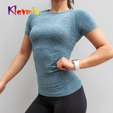 Fitness Women Seamless Sport Shirt Sports Wear For Women Gym Running Top Short Sleeve Yoga Workout T-shirt Tops Women's Jersey цены