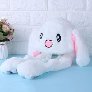 Novelty Magic Rabbit Hat With Moving Ear Plush Toy Gift Kids Toy Party