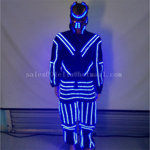 Led Luminous Costume Clothes With Mask For Dancing LED Growing Lighting Robot Suits Clothing Men Event Party Supplies