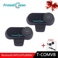 2pcs FreedConn Motorcycle Headset Helmet Intercoms T COMVB Bluetooth Intercom Moto Communicator Walkie Talkie Earphone 800M Bike