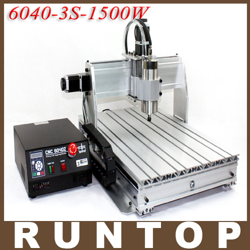 1500W 1.5KW Three-axis CNC Router Engraver Engraving Milling Drilling Cutting Machine CNC 6040 Z-3S cnc 5axis a aixs rotary axis t chuck type for cnc router cnc milling machine best quality