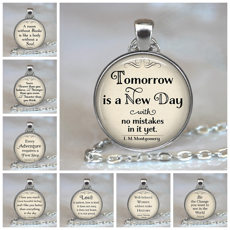 Family Decor So Many Books So Little Time Qutoe Clock Pendant Necklace Cabochon Glass Vintage Bronze Chain Necklace Jewelry Handmade