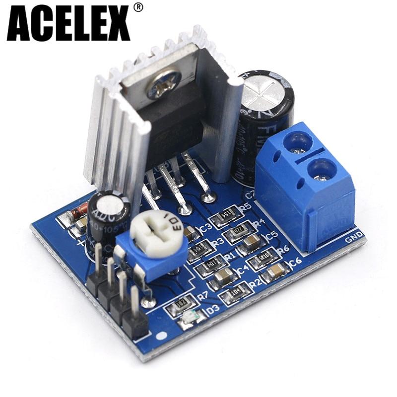 5pcs DIY Kit Parts 6-12V Single Power Supply Audio Amplifier Board Module TDA2030A Module TDA2030