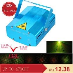 Мини светодиодный лазерный проектор рождественские украшения Лазерное освещение для дискотеки лазерный свет Dj голосовой активированный